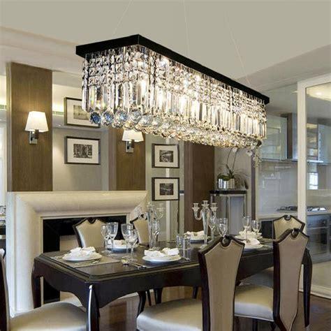rectangular crystal chandelier dining room pendant light