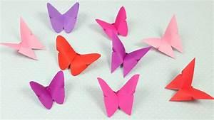 Schmetterlinge Aus Tonpapier Basteln : origami schmetterlinge falten diy youtube ~ Orissabook.com Haus und Dekorationen
