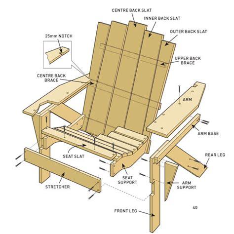 Woodworkers Journal Adirondack Chair Plans by Build Adirondack Chairs New Zealand Handyman Magazine