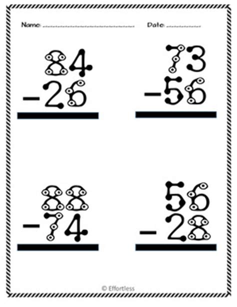 touch math digit addition touch math subtraction worksheets digit with and