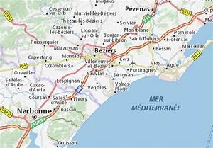 Michelin Karten Frankreich : karte stadtplan sauvian viamichelin ~ Jslefanu.com Haus und Dekorationen