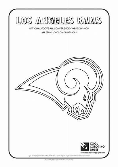 Rams Coloring Nfl Pages Angeles Los Football