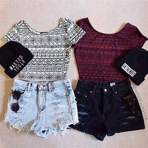 Top crop tops summer outfits - Wheretoget