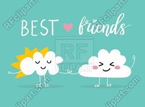 Quote Format Two Clouds Holding By Hands Happy Smiling Face Cute