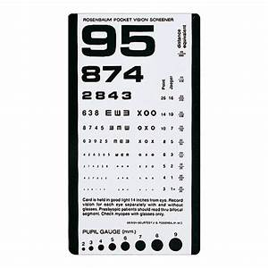 Pediatric Eye Chart Pictures Rosenbaum Pocket Vision Screener 44015