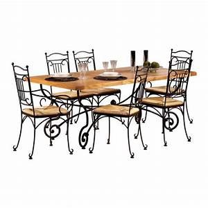 Pied En Fer Forgé : table rectangulaire ch ne l200 pieds fer forg achat vente table a manger seule table ~ Teatrodelosmanantiales.com Idées de Décoration