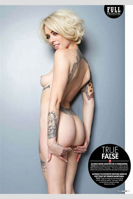 Alysha Nett topless and sexy for Front Magazine | | Your ...