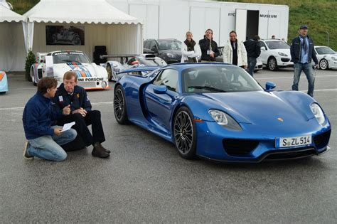 blue porsche spyder blue porsche 918 spyder in salzburgring austria