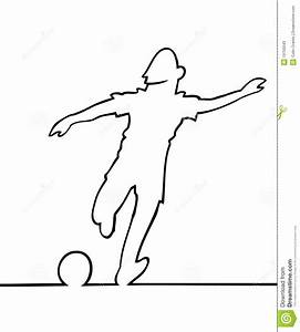 Soccer Player Kicking The Ball Stock Photos - Image: 19755543