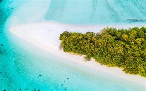 Island Beach Aerial View Photo   HD Wallpapers