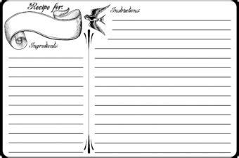 s day recipe card template s day 4x6 recipe card free printable oh that