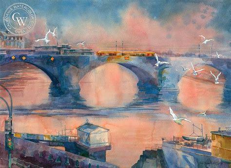 augustus bridge  images arches watercolor paper