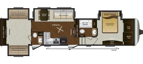 Montana 5th Wheel Bunkhouse Floor Plans by Kitsmiller Rv Superstore 2015 Montana Mountaineer 350qbq