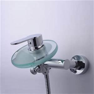 Robinet Cascade Baignoire : contemporain wall mount robinet de baignoire cascade avec bec en verre t0805w t0805w ~ Nature-et-papiers.com Idées de Décoration