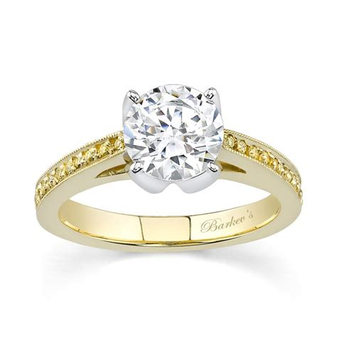 barkev s yellow white gold engagement ring 7130lyd