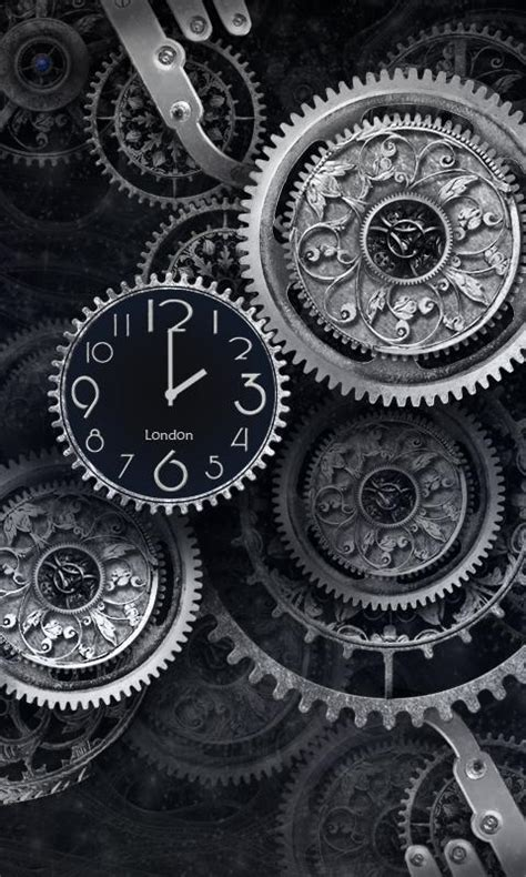 FREE Black Clock LiveWallpaper   Android Apps on Google Play