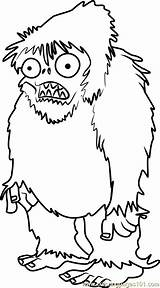Zombies Coloring Plants Zombie Pages Yeti Printable Plant Template Books Walking Dead Drawing Drawings Monster Coral Coloringpages101 Zombi Templates Draw sketch template