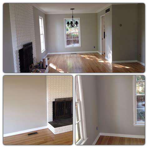 light gray walls with light oak hardwood floors wall