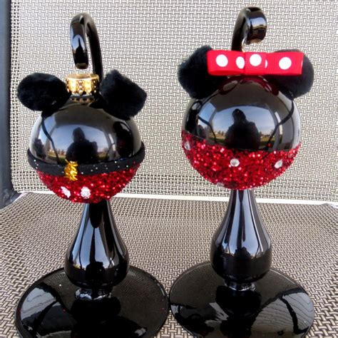 minnie and mickey mouse christmas ornament disney ornament