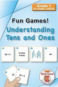 Understanding Tens And Ones  Set Of 40 Math Cards With