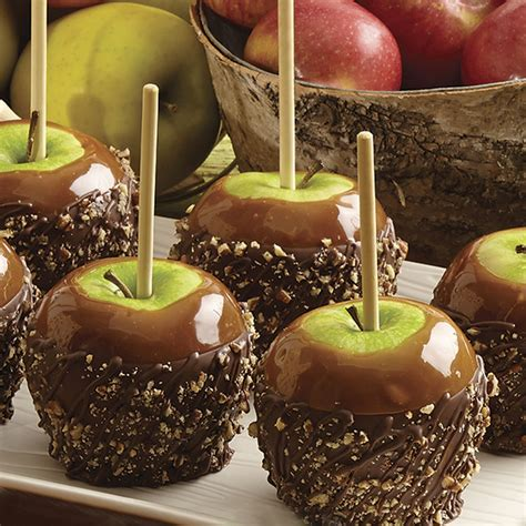 pecan caramel apples dipped  candy wilton