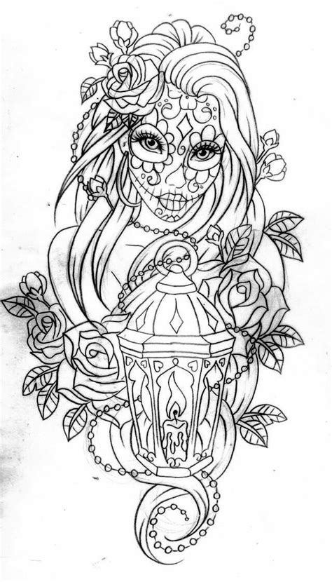 Day of the dead coloring page … | Pinteres…