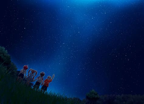 Full Moon Sky Wallpaper Free Anime Starry Night Sky Wallpaper For Android At Cool Monodomo