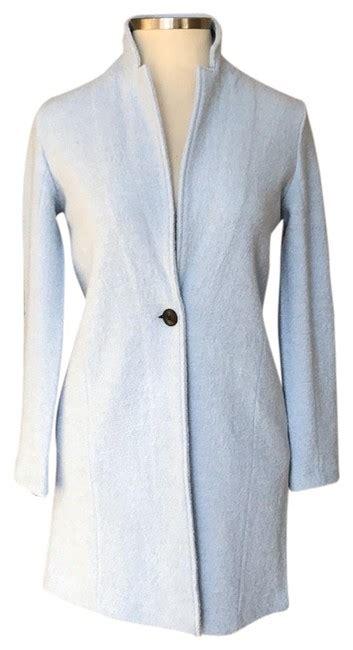 rachel zoe blue  button fitted coat jacket size