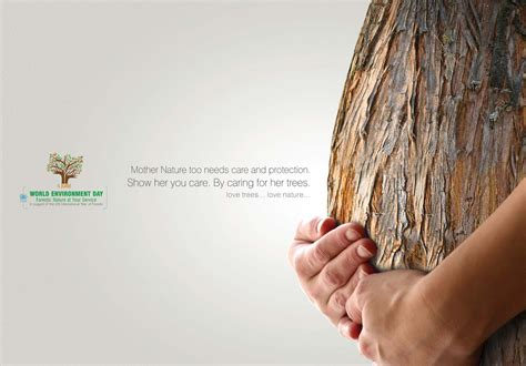 caring for trees world environment day tree ad gute werbung