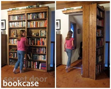 how do you make a door into a swinging bookcase hogwarts style secret door bookcase for book lovers