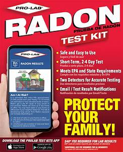 Radon Gas Test Kit (Short Term) – PRO-LAB® Test Kits