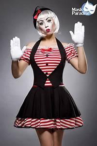 Kostüm Pantomime Damen : karneval damen kost m clown sexy mime faschingskram ~ Frokenaadalensverden.com Haus und Dekorationen