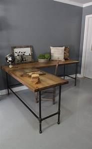 Plateau Bois Bureau : meuble bureau domicile faire soi m me id es et tapes ~ Edinachiropracticcenter.com Idées de Décoration