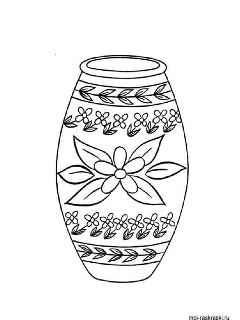 vase coloring pages   print vase coloring pages