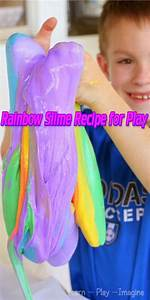 Rainbow Slime Recipe for Play - Lil Moo Creations