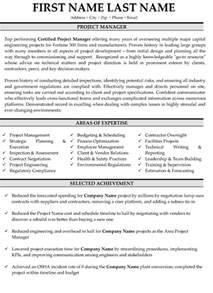 Professional Project Manager Resume Sles by Top Project Manager Resume Templates Sles