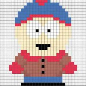 South Park39s Stan Easy Cross Stitch Pattern Cross