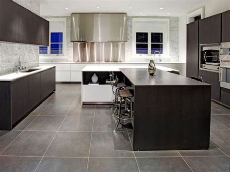 modern kitchen floor home design