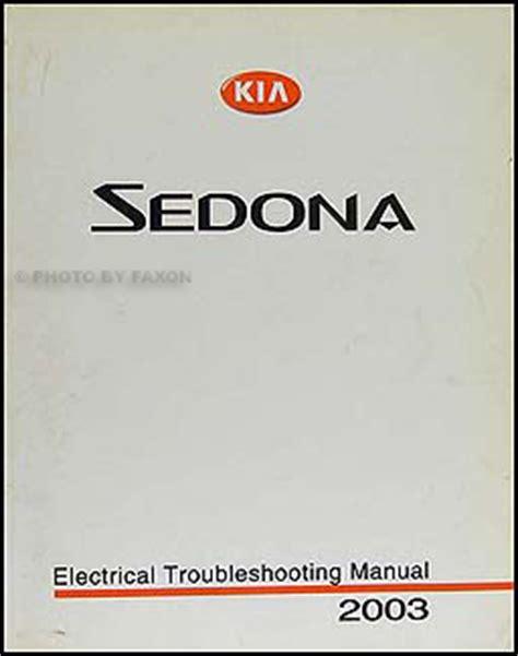 car repair manual download 2003 kia sedona lane departure warning 2003 kia sedona electrical troubleshooting manual original