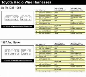 Toyota Radio Wire Diagram