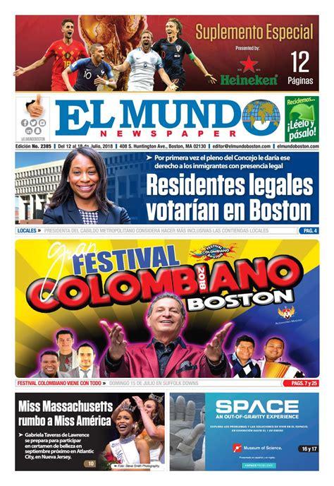 El Mundo Boston Newspaper July 12 2018 by El Mundo