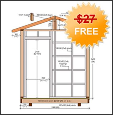 shed blueprint tool shed plans    build