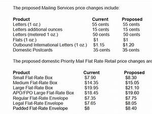 u s postal service announces new prices for 2020