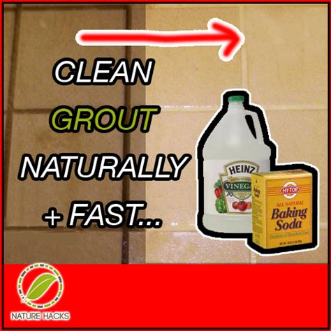 how to effectively and naturally clean grout