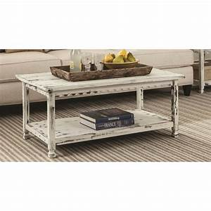 white distressed coffee table reclaimed wood antique With white country style coffee table