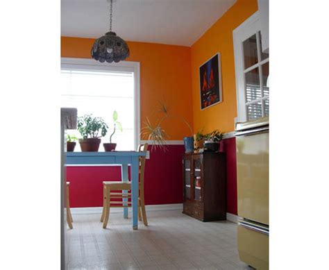 popular combination  contrasting wall colors