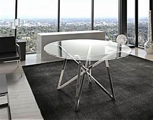 Esstisch Rund 120 Cm : runder esstisch glas metall tisch rund verchromt glastisch rund durchmesser 120 cm ~ Whattoseeinmadrid.com Haus und Dekorationen