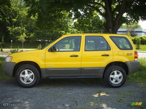 Ford Escape 2001 by Chrome Yellow Metallic 2001 Ford Escape Xls V6 4wd