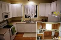 painting kitchen cabinets white Painting Kitchen Cabinets White Before and After Pictures ...