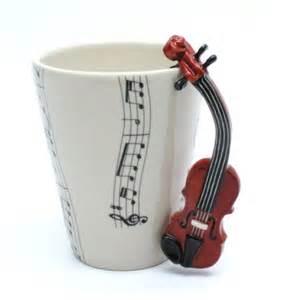 Home Design Gifts Violin Mug Ceramic Coffee Cup Handmade Home Decor Lover Gifts